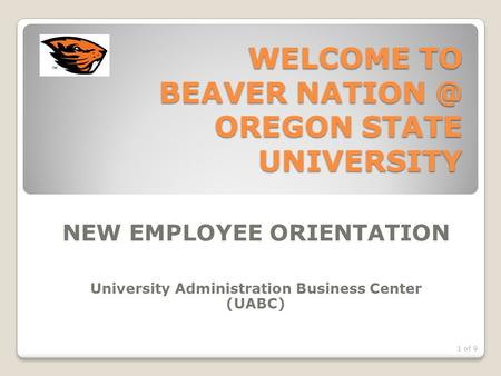 WELCOME TO BEAVER OREGON STATE UNIVERSITY