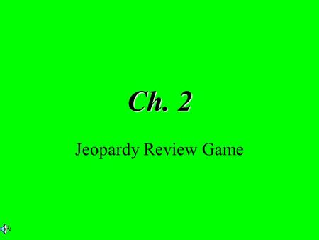 Ch. 2 Jeopardy Review Game. $2 $5 $10 $20 $1 $2 $5 $10 $20 $1 $2 $5 $10 $20 $1 $2 $5 $10 $20 $1 $2 $5 $10 $20 $1 Fill in the Blank Q&A The Great Plains.