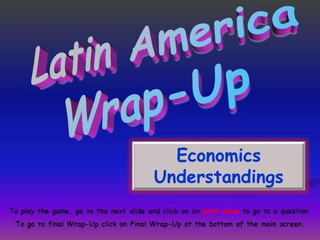 Economics Understandings