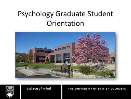 Psychology Graduate Student Orientation. Graduate Students.