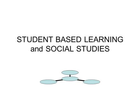 STUDENT BASED LEARNING and SOCIAL STUDIES. Student based learning is very appropriate for the study of Social Studies and History. Student Based or Learner.