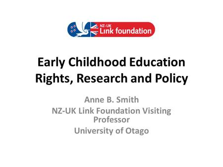Early Childhood Education Rights, Research and Policy