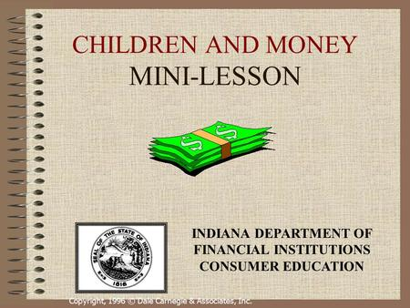 CHILDREN AND MONEY MINI-LESSON