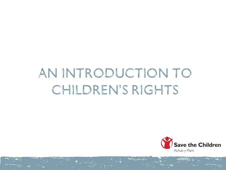 An introduction to children's rights. Group activity.
