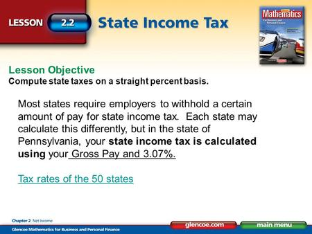 Section 2 3 Pp Graduated State Income Tax Ppt Video
