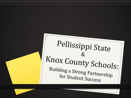 Pellissippi State & Knox County Schools:
