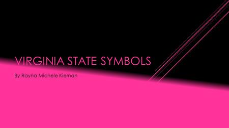 VIRGINIA STATE SYMBOLS By Rayna Michele Kiernan. STATE FLAG Though flags similar to Virginia's current flag had flown in the State since the 1830s, Virginia.