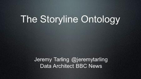 The Storyline Ontology