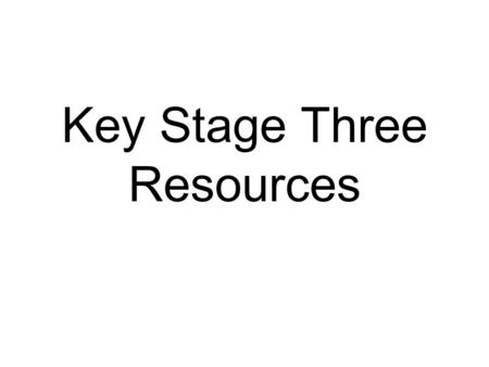 Key Stage Three Resources. The key aim for the week is: To ensure all young people are equipped to recognise and challenge bullying behaviour wherever.