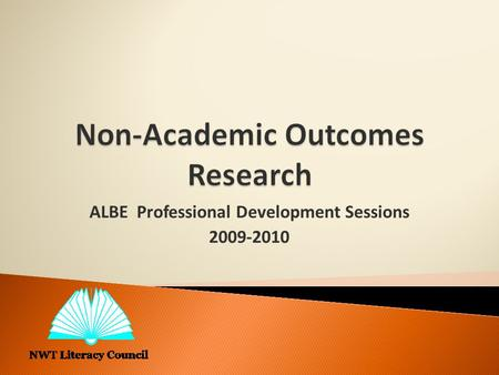 ALBE Professional Development Sessions 2009-2010.