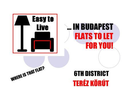 … IN BUDAPEST FLATS TO LET FOR YOU! 6TH DISTRICT TERÉZ KÖRÚT WHERE IS THAT FLAT?