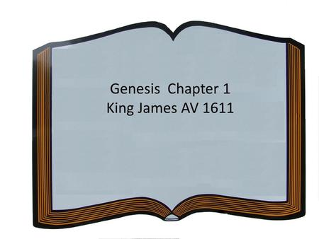 Genesis Chapter 1 King James AV 1611.
