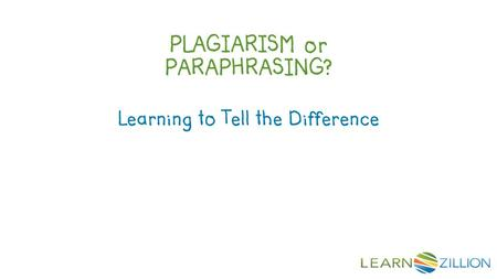 PLAGIARISM or PARAPHRASING? Learning to Tell the Difference.