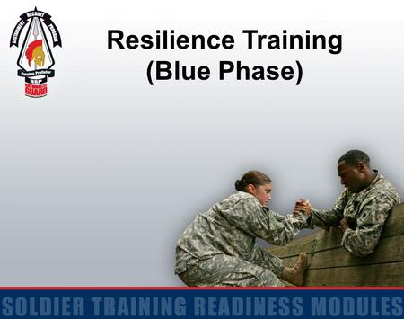 "Resilience Training (Blue Phase). 2 Terminal Learning Objective ACTION: Identify techniques to ""check and adjust"" initial reactions and energy management."