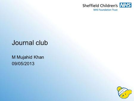 Journal club M Mujahid Khan 09/05/2013. GERD Literature review Critical appraisal.