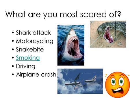 What are you most scared of?