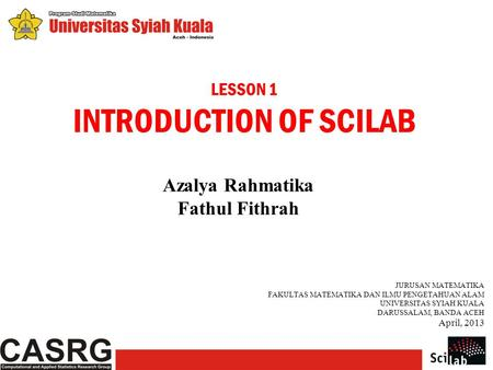 INTRODUCTION OF SCILAB