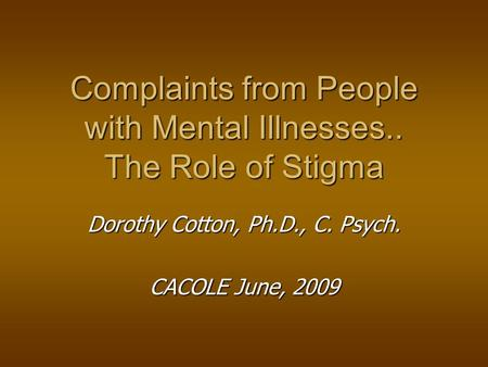 community problem the stigmatization of mental Stigmafree learn how you can what is stigma why is it a problem stigma is toxic to their mental health because it creates an environment of shame.