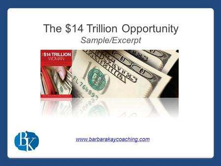 The $14 Trillion Opportunity Sample/Excerpt www.barbarakaycoaching.com.
