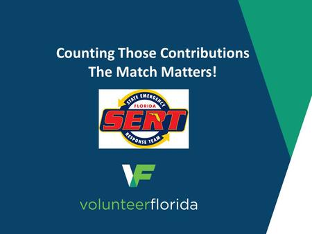 Counting Those Contributions The Match Matters!. Authority Sections 403(a), Essential Assistance and 502, Federal Emergency Assistance, of the Robert.
