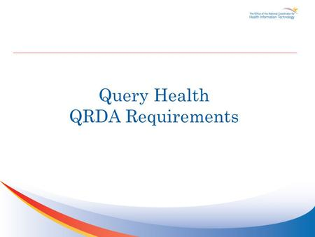 Query Health QRDA Requirements