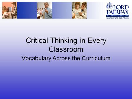 Critical Thinking in Every Classroom Vocabulary Across the Curriculum.