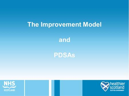 The Improvement Model and PDSAs. Aims of this session To understand the Model for Improvement and the PDSA Cycle To understand the purpose and application.