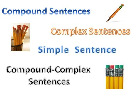 Compound Sentences Complex Sentences Simple  Sentence Compound-Complex