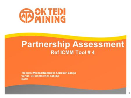 Partnership Assessment Ref ICMM Tool # 4