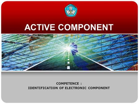 COMPETENCE : IDENTIFICATION OF ELECTRONIC COMPONENT