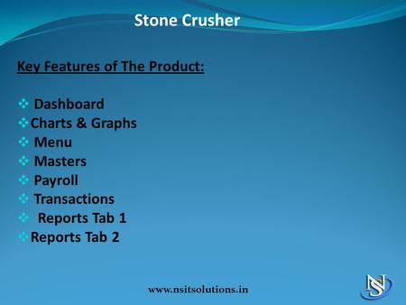 Stone Crusher Key Features of The Product: Dashboard Charts & Graphs