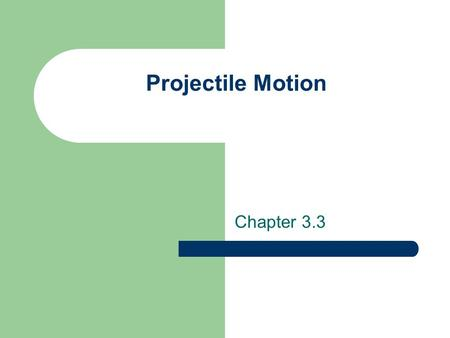 Projectile Motion Chapter 3.3. Objectives Recognize examples of projectile motion Describe the path of a projectile as a parabola Resolve vectors into.