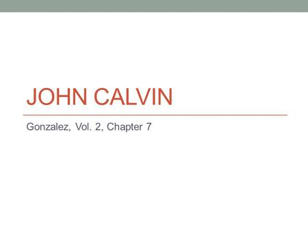 10 differences between Martin Luther and John Calvin