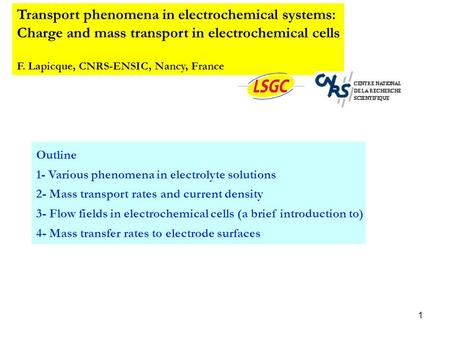 Transport phenomena in electrochemical systems: