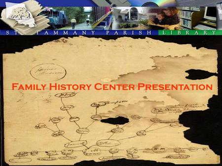 Family History Center Presentation. Ordering Microfilm From The Family History Center Go to the website: www.familysearch.org.