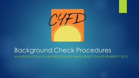 Background Check Procedures