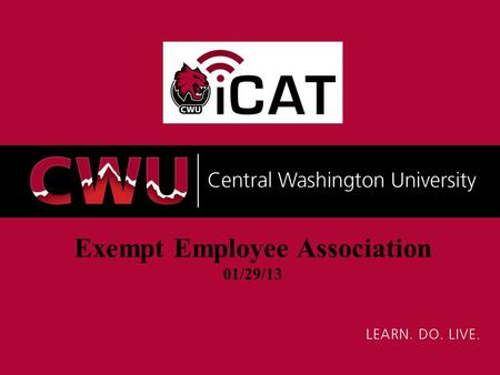 Exempt Employee Association 01/29/13. Agenda iCAT Objectives CedarCrestone Overview Project Scope and Timeline Project Methodology What is Changing and.