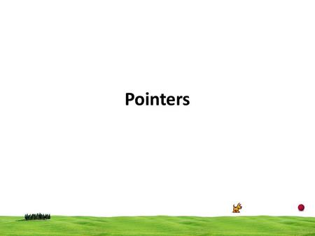 Pointers. 2 A pointer is a variable that points to or references a memory location in which data is stored. Each memory cell in the computer has an address.
