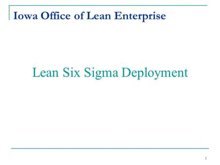 Iowa Office of Lean Enterprise