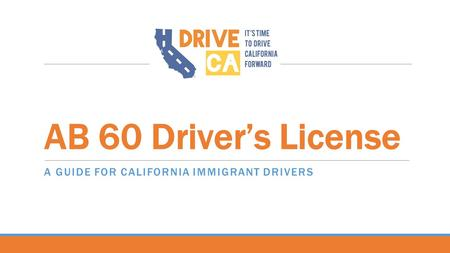 A Guide for California immigrant drivers