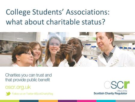 College Students' Associations: what about charitable status?