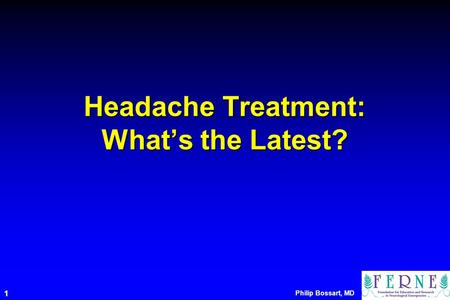 Headache Treatment: What's the Latest?