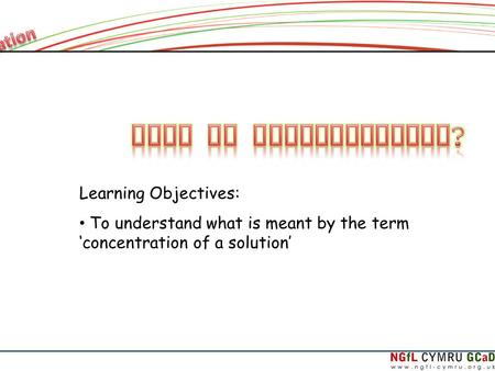 What is Concentration? Learning Objectives:
