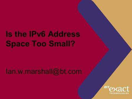 Is the IPv6 Address Space Too Small?