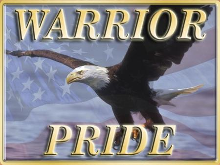 Warrior Pride is the Army's new substance abuse campaign based on Army values and the Warrior Ethos. WarriorsPrideSoldiers are America's Warriors and.