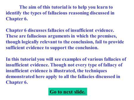 three types of fallacious reasoning