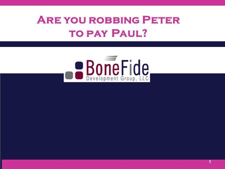 1 Are you robbing Peter to payPaul?. Ready to Serve! Ready to Impact! Mission To save lives To be a leading voice in the fight To Increase local and national.
