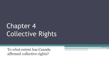 Chapter 4 Collective Rights
