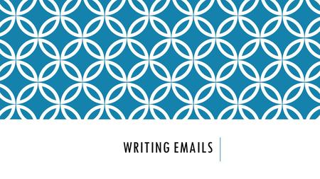 WRITING EMAILS. TOPICS PART I Introduction Vocabulary Idioms Do's and Don'ts Organizing a Letter Formal versus Informal Words Writing a Letter to city.