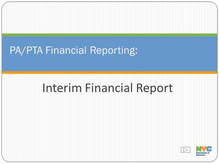 PA/PTA Financial Reporting: